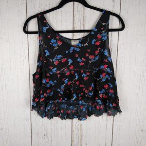 Free People Intimates Tiered Floral Camisole Small